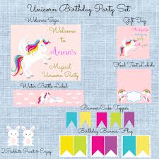 printable believe banner magical unicorn birthday party my practical birthday guide