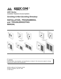 mircom adc series specifications