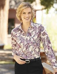 paisley blouse sleeve paisley shirt cfo care free etched paisley print