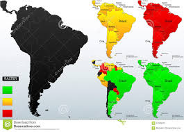 Latin And South America Map by Latin America Countries Political Map Stock Vector Image 77762371