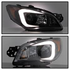 subaru headlight styles 07 subaru impreza halogen type led drl light tube projector