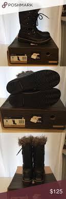 sorel tofino womens boots size 9 glossy black huntress boots size 8 glossy black huntress