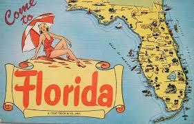 Map Southern Florida by Postcardiva Postcard Blog Vintage U S Map Postcards