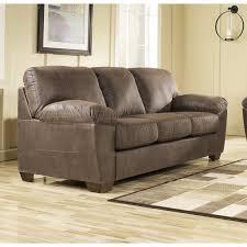 Leather Or Microfiber Sofa by Ashley Amazon Microfiber Sofa In Walnut 6750538