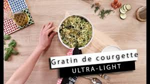 cuisiner des courgettes light gratin courgettes light