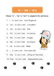 primaryleap co uk choosing the correct verb is am or are 2
