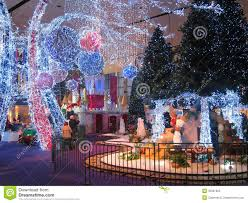 christmas light display in a shopping mall editorial photography