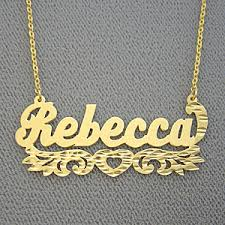 Personalized Gold Name Necklaces Name Necklace Personalized Gold Custom Jewelry Great Gift Items