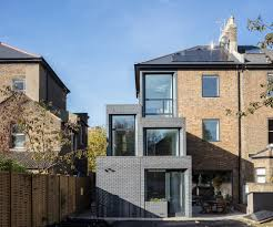 new build house blue black engineering brick with tradtional