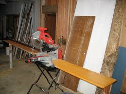 wooden miter saw stand thisiscarpentry