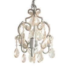 White Nursery Chandelier Tadpoles 3 Light White Diamond Mini Chandelier Cchapl010 The