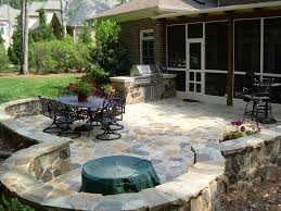 backyard stone patio designs home decorating interior design