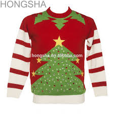 christmas sweater custom woman knitted christmas jumpers hss1401