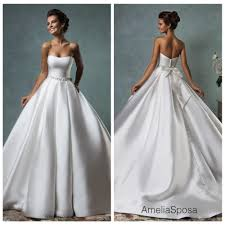 satin wedding dresses discount 2016 fall amelia sposa wedding dresses gowns satin