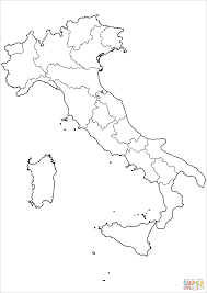 Blank Map Of Spain by Outline Map Of Italy With Regions Coloring Page Free Printable