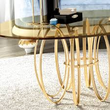 round gold glass coffee table exclusive brass round glass coffee table