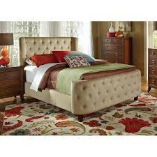 tufted california king size bed frame tan