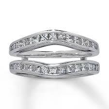 Wedding Ring Enhancers by Jared Diamond Enhancer Ring 1 Ct Tw Princess Cut 14k White Gold
