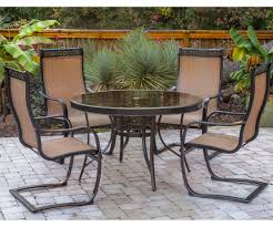 Darlee Santa Monica by Sturdy Homecrest Havenhill Sling Patio Set In Faux Stone Then Faux