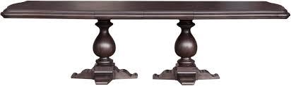 pulaski furniture p052240 dining room ravena double pedestal table