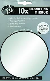 round makeup mirror with lights rio 10 x magnification mirror with light amazon co uk beauty