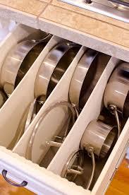 best kitchen cabinet drawer organizer cleaning diy organized pots pans drawer