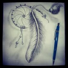 drawn dreamcatcher sketched pencil and in color drawn