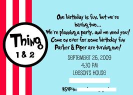 dr seuss thing 1 u0026 thing 2 birthday party