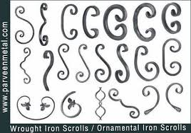 wrought iron components and ornamental iron hardware for gates