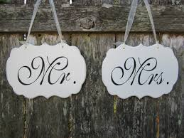 mr and mrs sign for wedding mr and mrs wedding chair signs wedding chair signs