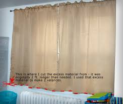How To Make Curtains Longer Transform Thrift Store Curtains Alter U0026 Create Valances 5 Steps