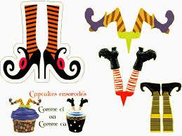 halloween clipart free printable brujas toppers y marcadores de copas para imprimir gratis