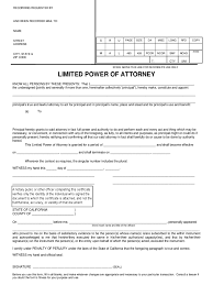 Power Of Attorney Forms California by California Power Of Attorney Form Free Templates In Pdf Word