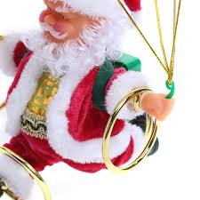 electric skydiving santa claus doll tree ornament best