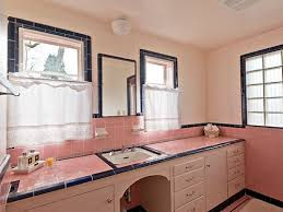 retro ceramic pink tile bathroom vintage bathroom tiles on