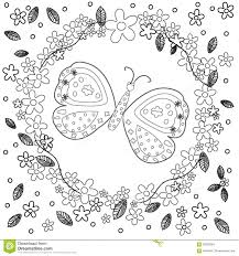 coloring page flowers stock vector image 39007898