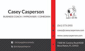 Business Cards Boca Raton Sick Puppies Comedy Business Cards Mamas Heels