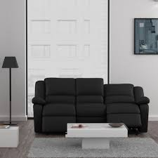 canapé cuir 3 places relax canapé 3 places relax simili cuir meuble et déco