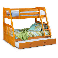 Bunk Bed With Twin Over Full by Ranger Twin Over Full Bunk Bed With Trundle Pine Value City