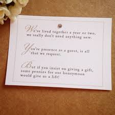 wedding gift poems wedding invitation wording for monetary gifts