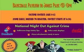 gulfport police plan halloween fun for night out against crime