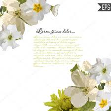 Beautiful Invitation Card Floral Invitation Card With Beautiful Spring Flowers And Banner