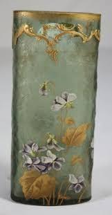 Vase French Small Mont Joye Glass Vase French Art Nouveau Galle Era French