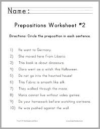 worksheets for prepositions worksheets