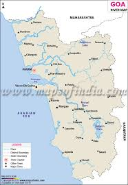 Physical Blank Map Of India by Goa River Map