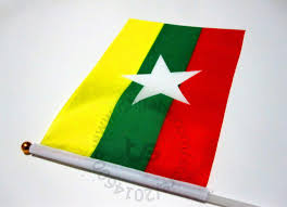 Plastic Flags Myanmar Burma Flag Banner 10 Pieces Lot 14x21cm Flag 100