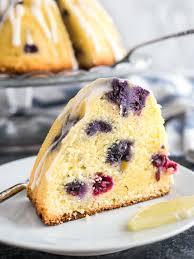 lemon blueberry bundt cake plated cravings
