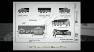 low cost house plan 1300 square foot house plan youtube