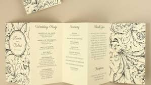classic wedding programs wedding programs 9 classic and unique wedding ideas
