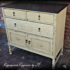 painted buffet painted shabby chic from repurposedbym on etsy